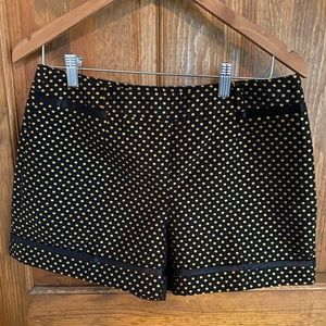 Black+gold Ted Baker Polka Dot Shorts